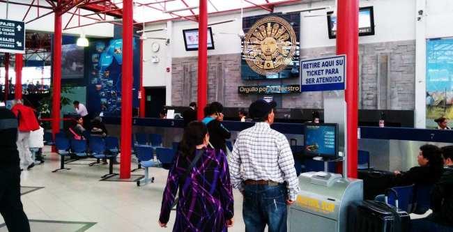 Viajar de ônibus no peru - Terminal de ônibus (terrapuerto) Cruz del Sur em Lima