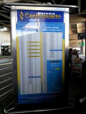 Como ir do aeroporto ao centro de Santiago - Trajeto Centropuerto
