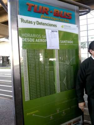 Como ir do aeroporto ao centro de Santiago - Trajeto Tur-Bus