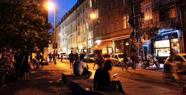 Dicas de viagem a Dresden - Cidade Nova Neustadt de noite