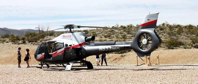 Passeio de helicóptero pelo Grand Canyon perto de Las Vegas - nosso transporte