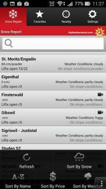 Apps My Switzerland - Suíça - Swiss Snow 1