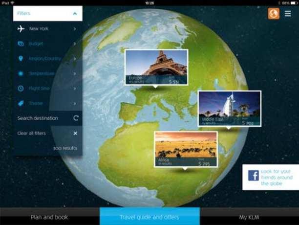 Dicas KLM Viagem - app ipad