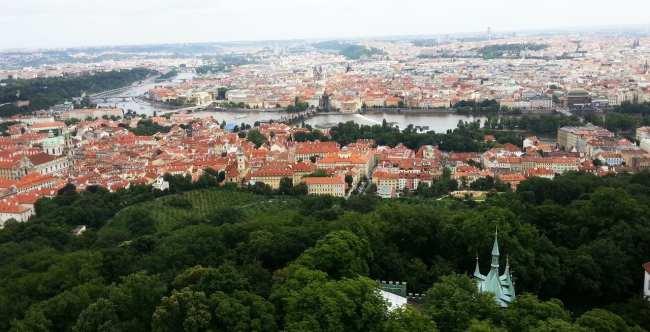 De onde ver Praga do alto - Petrín 1