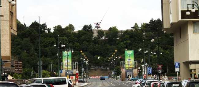 De onde ver Praga do alto - Metrônomo Gigante