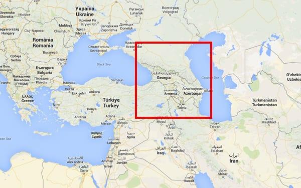 Mar Negro e Mar Cáspio