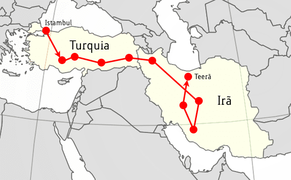 Início em Istambul, fim em Teerã