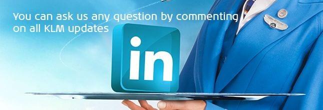 KLM nas redes sociais - linkedin