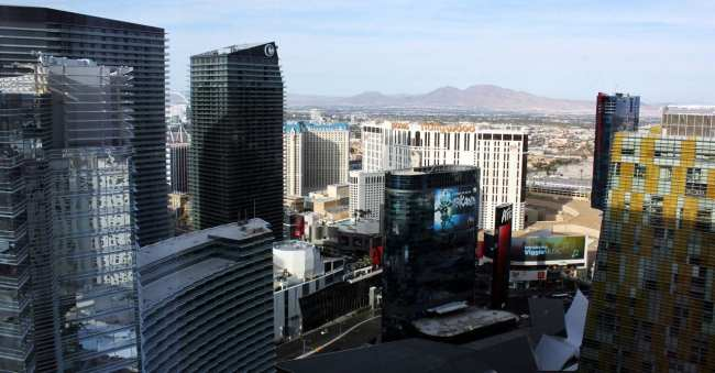 Onde ficar em Las Vegas - Vista do Cosmopolitan Hotel