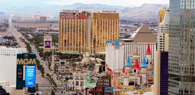 De onde ver Las Vegas do alto - Torre Eiffel de Las Vegas 1