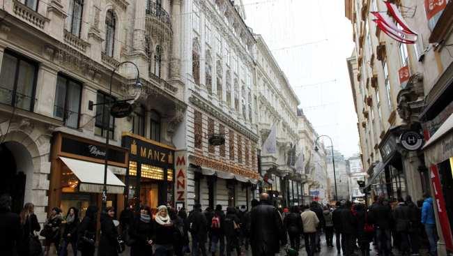 Onde comer em Viena - rua de compras com cafés famosos