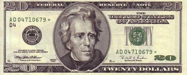 Nota Dólar 1996