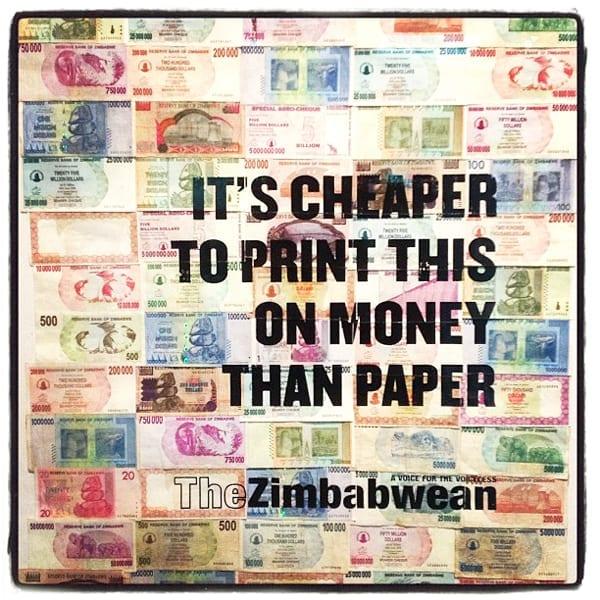 """""""É mais barato imprimir isso em dinheiro do que em papel"""" (Foto: Adrian Pym - CC BY-NC-ND 2.0)"""