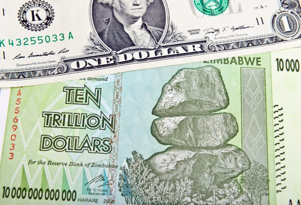 Dólar X dólar, por Shutterstock