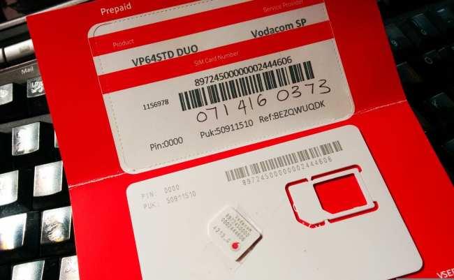 Internet 3G na África do Sul - Vodacom