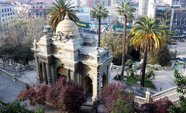 Onde ficar em Santiago - cerro santa luzía