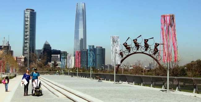 Onde ficar em Santiago - parque bicentenario