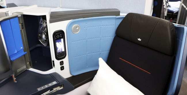 Como é voar de business class na KLM - 03