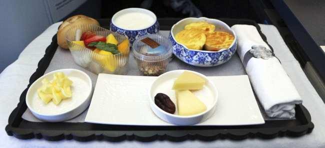 Como é voar de business class na KLM - 11