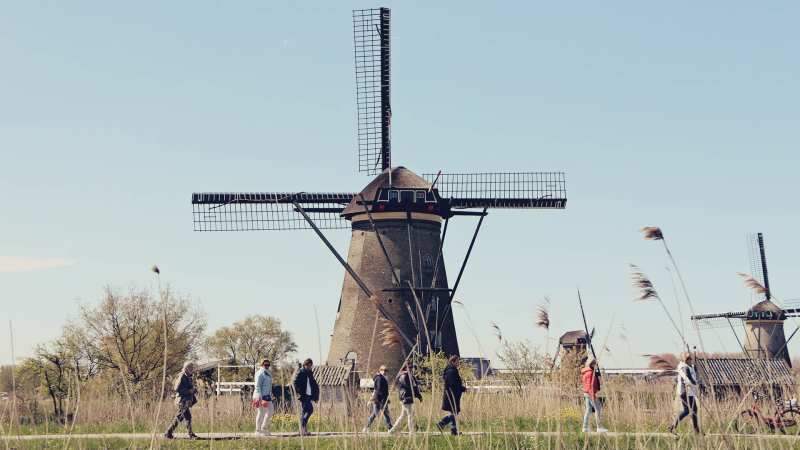 Como chegar em Kinderdijk - os primeiros moinhos da Holanda - 07