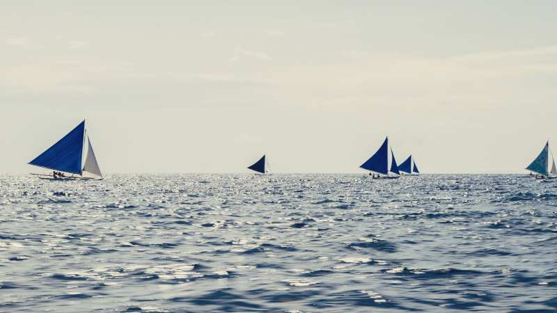 Filipinas, Boracay, barcos