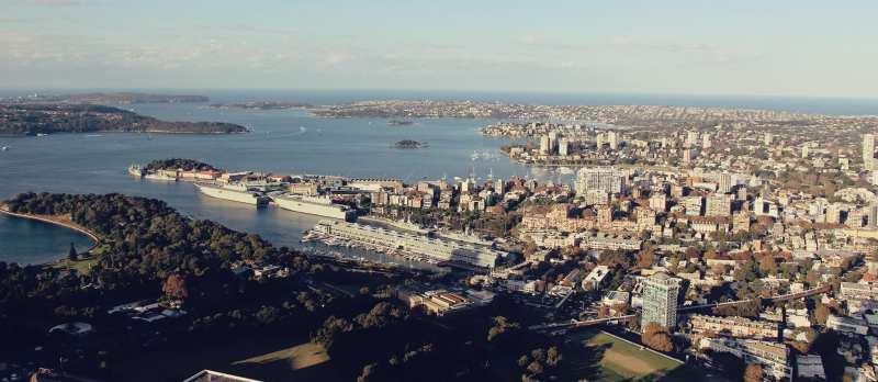 De onde ber a baía de Sydney do alto - 07