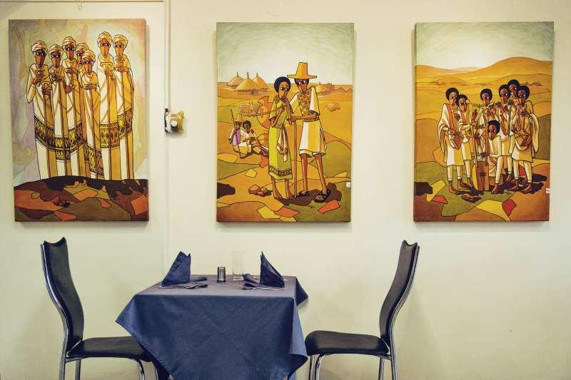 Makush Art Gallery & Restaurant, em Adis Abeba
