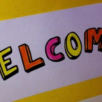 Welcome sign craft