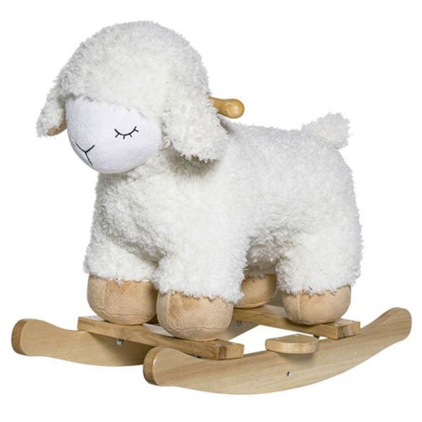 Bloomingville - Mouton à bascule en bois de hêtre naturel 1