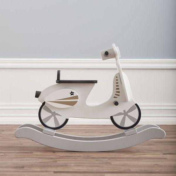 Kid's Concept - Scooter à bascule en bois gris et blanc 1