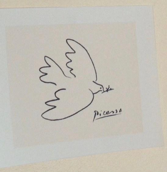 Colombe de la paix, Pablo Picasso