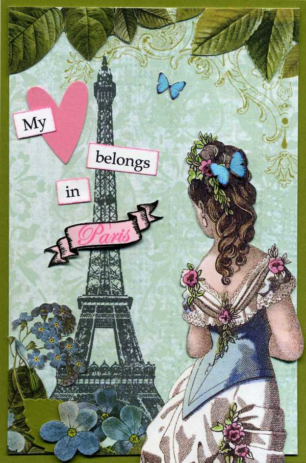 Paris Postcard Art