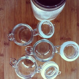 Jars ready to be filled with Epic Hot Chocolate