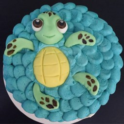 Fondant Squirt the turtle detail