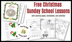 Sunday School Lessons for Christmas