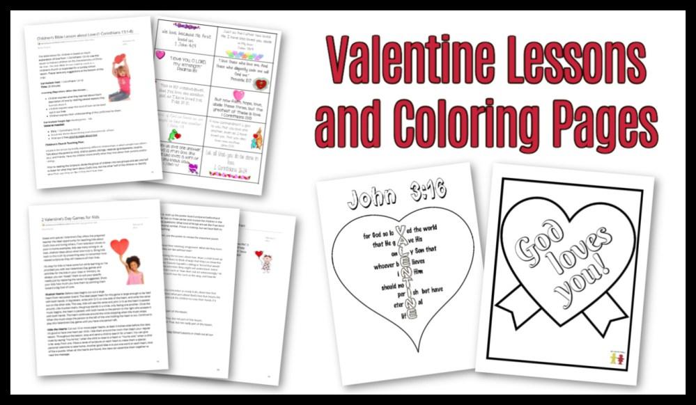 medium resolution of Valentines Day Sunday School Lesson