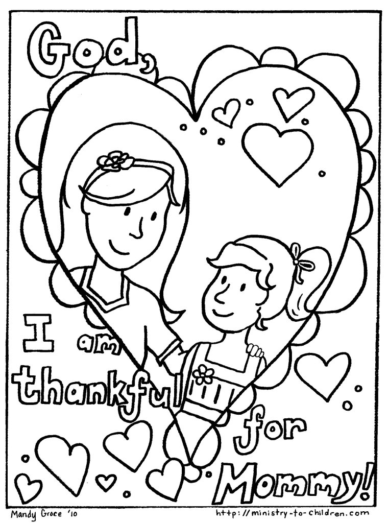 free mothers day coloring page