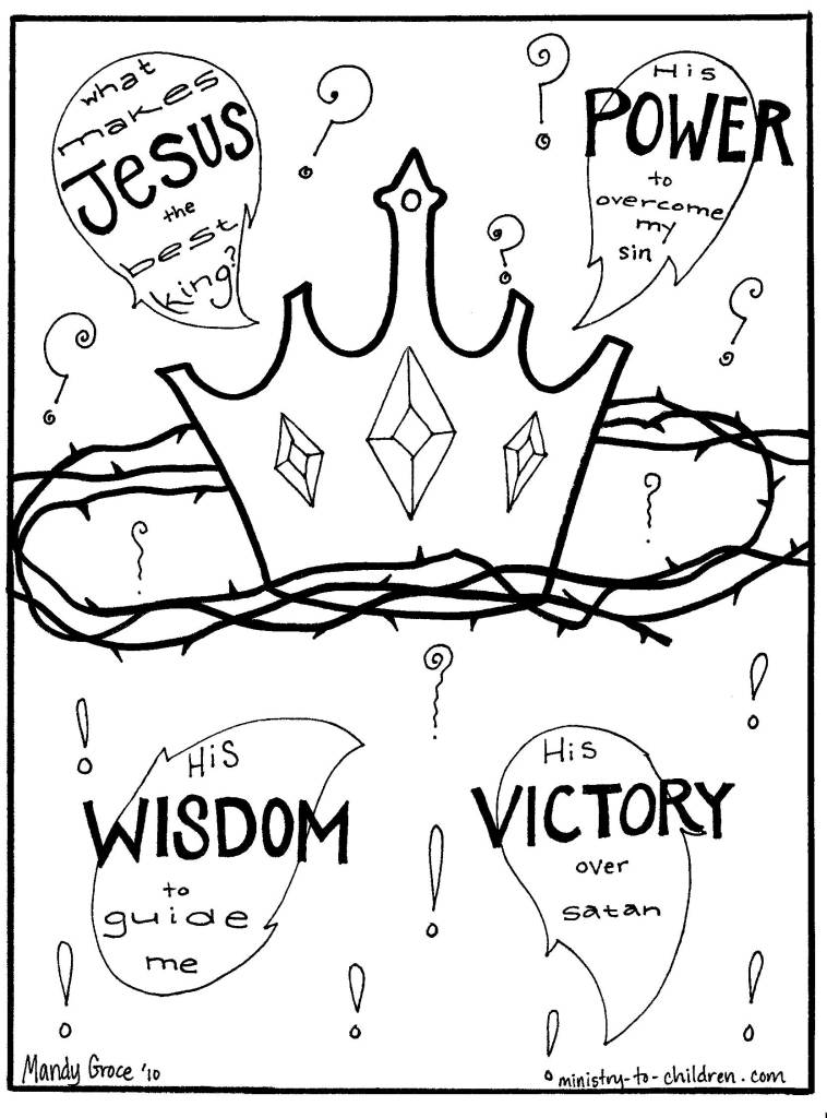 Coloring Page: why is Jesus the best King