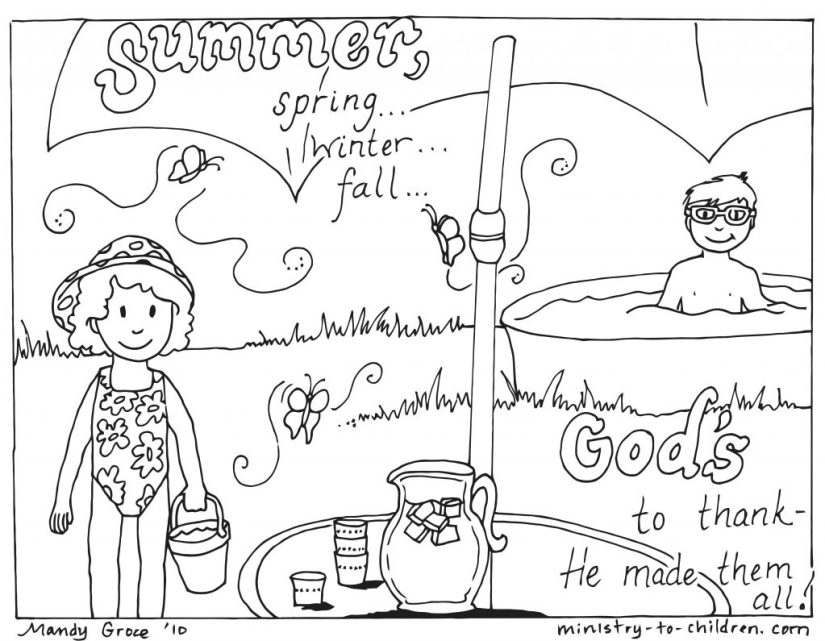 God Mad Summer coloring page PDF