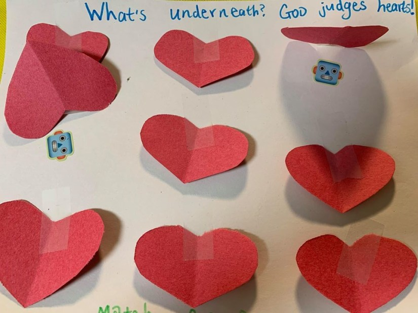 Heart Game Activity for Sunday School