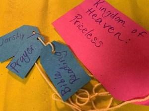 Hidden Treasure beyond value bible craft for Sunday School
