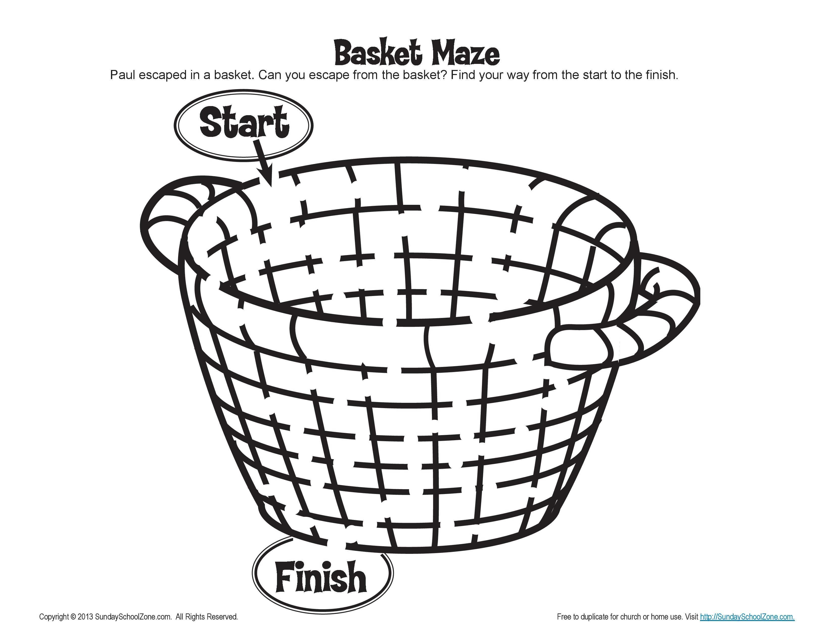Paul Escaped Damascus In A Basket Maze