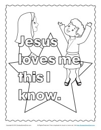 Jesus Knows Me Coloring Page Coloring Pages