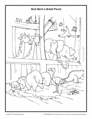 noah and the ark coloring pages # 11