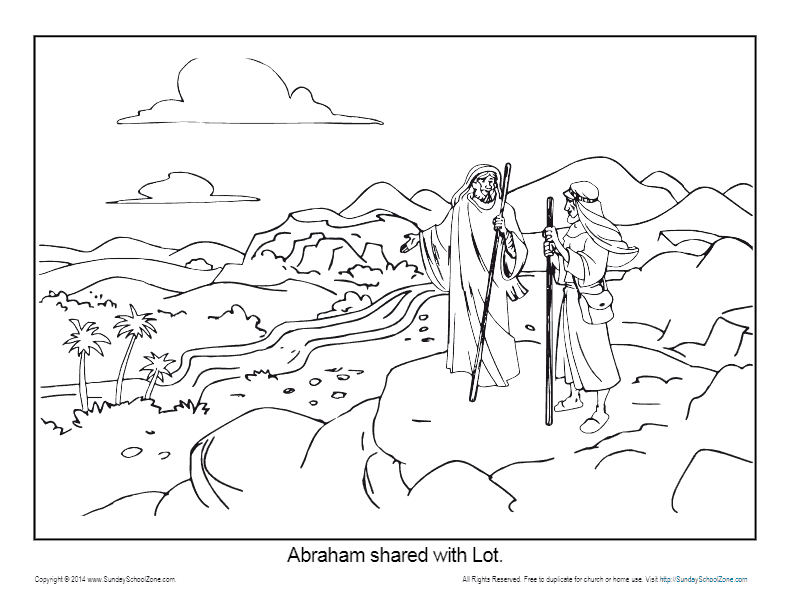 God Calls Abraham Page Coloring Pages