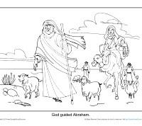 God Guided Abraham Printable Coloring Sheet