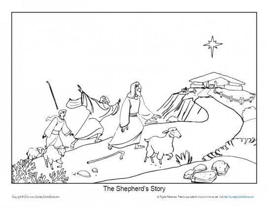 The Shepherds' Story Bible Activities on Sunday School Zone