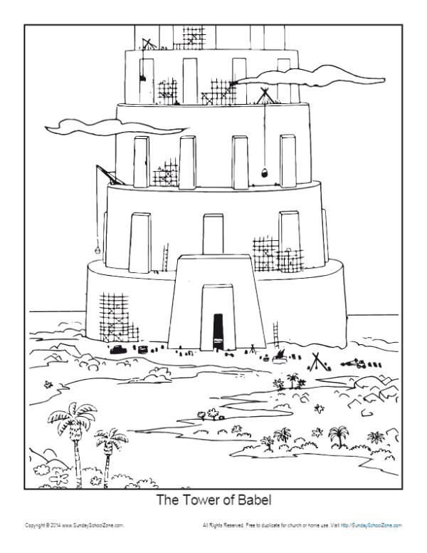 tower of babel coloring pages # 5