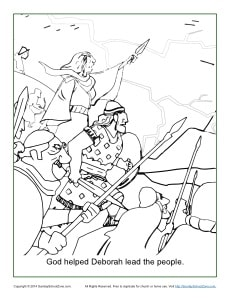God Helped Deborah Lead the People Coloring Page