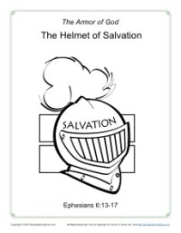 Helmet of Salvation Coloring Page